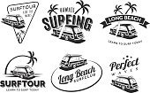 Rescue,Retro Styled,Silhouette,Sign,Surfing,Sea,Old-fashioned,Car,Swimming,Ribbon,Monochrome,Summer,Lifeguard,Wood - Material,Illustration,Icon Set,Computer Icon,Symbol,Fashion,Surf,Boarding,Isolated,Wave,Surfboard,Insignia,Roof,Monochrome,Part Of,Postage Stamp,Sports Utility Vehicle,Beach,Water,Arts Culture and Entertainment,Sun,Vector,Design,Sun,Label,,Badge,Beach Holiday,Vacations,Black Color,Swimwear