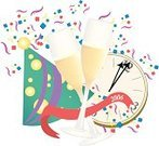 New,years,Party - Social Event,Champagne,Confetti,Celebratory Toast,Happiness,Hat,Wine,Christmas,Celebration,January,Banner,Glass,Streamer,Clock,Glass - Material,31st,Winter,First Place,Midnight,Objects/Equipment,Fashion,Illustrations And Vector Art,Fun,Annual,Beauty And Health