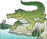 Crocodile,Ilustration,Vector,Animal,Smiling,Water,Reptile,Animals In The Wild,Smiley Face,Happiness,Cheerful,Wildlife,Wild Animals,Nature,Animals And Pets,Nature,Illustrations And Vector Art