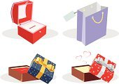 Gift,Jewelry Box,Shopping,Ribbon,Box - Container,Bag,Birthday,Illustrations And Vector Art,Vector Icons,Christmas,Heart Shape,Holiday,Valentine's Day - Holiday