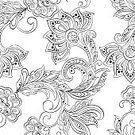 Ornate,Pattern,Seamless,Decoration,Backgrounds,Flower,Henna Tattoo,Floral Pattern