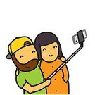 Love,Cap,Cheerful,Family,Camera - Photographic Equipment,Beard,Women,Technology,Smiling,Backgrounds,Lifestyles,Monopod,Smart Phone,Stick - Plant Part,Vector,Men,Selfie,Individuality,People,Telephone,Pole,Adult