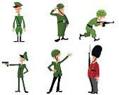 Cartoon,Illustration,Honor Guard,British Culture,Vector,Human Hand,Cute,Males,Standing,Officer,Green Color,Pistol,War,Work Helmet,Responsibility,Armed Forces,Red,Painted Image,Symbol,Computer Graphic,People,Design,Army,Doodle,Men,Gun,Uniform,Warrior,Rifle,Characters,Costume,Protection,Sign