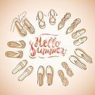 Fashion,Season,hand-drawing,Engraved Image,Espadrilles,Hello Summer,Hippie,Drawing Hands,Beach,Summer,Vacations,Sandal,Leisure Equipment,Slipper,Shoe