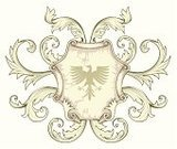 Eagle - Bird,Coat Of Arms,Shield,heraldic,Insignia,Medieval,Ornate,Nobility,Vector,Etching,Design Element,Decoration,Old-fashioned,Scroll Shape,Line Art,Retro Revival,Symmetry,Ilustration,Victorian Architecture,Antique,Fluer De Lys,Isolated On White,Isolated Objects,Drawing - Art Product,Victorian Style,Swirl,Drawing - Activity,Pencil Drawing,No People,Banner,Illustrations And Vector Art