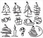Christmas Tree,Christmas,Tree,Evergreen Tree,Symbol,Drawing - Art Product,Computer Icon,Single Line,In A Row,Collection,Ilustration,Winter,Cards,Design Element,Pencil,Christmas Decoration,Isolated,Gift,Holiday,Ink,Vacations,Black And White,Greeting Card,Cheerful,New Year's Eve,Decoration,Multiple Image,Star Shape,stips,Group of Objects,White Background,Vector,New Year Eve,New Year's Day,Sketch,Cultures,hand drawing,Clip Art,Christmas Ornament,xmas elements,Happiness,New Year