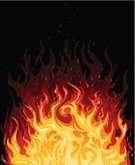 Fire - Natural Phenomenon,Hell,Flame,Label,Vector,embers,Heat - Temperature,Backgrounds,Ilustration,Yellow,Orange Color,Black Color,Burning,Red,Vector Icons,Vector Backgrounds,Nature,Illustrations And Vector Art