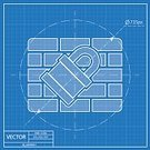 Technology,Security,Brick,Computer Graphic,Internet,Sign,Vector,Symbol,Illustration,Blueprint