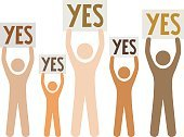 Vector,Isolated,Protest,Voice,Voting,Talking,Yes - Single Word,Group Of People,Contrasts,Support,People