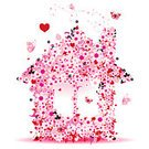 Love,House,Symbol,Heart Shape,Flower,Computer Icon,Vector,Construction Industry,Springtime,Summer,Shape,Butterfly - Insect,Computer Graphic,Art,Ilustration,Abstract,Holiday,Pattern,Window,Blossom,Beauty,Swirl,Insect,Floral Pattern,Ideas,Decoration,Plant,Nature,Season,Concepts,Flying,Design Element,Petal,Outdoors,Ornate,Leaf,Curve,Painted Image,Illustrations And Vector Art,Vector Cartoons,Nature,Summer,Nature Abstract