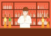 Bar Counter,Bar - Drink Establishment,Beer Tap,Pub,Beer - Alcohol,Shelf,Beer Bottle,Drink,Bottle,Vector,Nightclub,Ilustration,Alcohol,Beer Glass,Men,Service,Whiskey,Nightlife,Food And Drink,Arms Crossed,Wineglass,Social Gathering,Caucasian Ethnicity,Highball Glass,Shirt,Lifestyle Backgrounds,Glass,Smiling,Lifestyle,Young Adult,Illustrations And Vector Art,Vector Cartoons,Alcohol