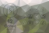 Breakfast,Caffeine,Coffee - Drink,Food,Heat - Temperature,Espresso,Cafe,Geometric Shape,Collection,Computer Graphic,Creativity,Symbol,Cup,Morning,Vector,Sign,Illustration,Abstract,Pattern,Coffee Grinder,Coffee Shop,Coffee Pot,Drink,Saucer,Mocha,Coffee Maker,Cappuccino