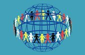 Multi-Ethnic Group,People,Paper Chain,Earth,Friendship,Globe - Man Made Object,Stick Figure,Unity,Teamwork,Community,Connection,Partnership,Organization,Group of Objects,Organized Group,Togetherness,Ethnicity,Communication,People,Actions,Concepts And Ideas