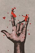 Love,People,Art Product,Oil Painting,Gesturing,Painted Image,Men,Art And Craft,Watercolor Painting,Cartoon,Grunge,Couple - Relationship,I Love You,Hand Language,Concepts,Sign,Illustration,Creativity,Human Finger,Romance,Acrylic Painting,Symbol,Heart Shape