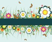 Flower,Springtime,Banner,Butterfly - Insect,Multi Colored,Vine,Grass,Backgrounds,Nature,Ilustration,Vector,Branch,Scroll Shape,Decor,Leaf,Ornate,Bush,Curled Up,Nature,Flowers,Illustrations And Vector Art,Vector Florals,Nature Backgrounds,Beauty In Nature,Plant