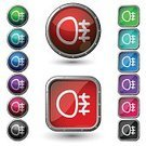 Headlight,Square Shape,LED,Dashboard,Symbol,Vector,Alertness,Circle,Religious Icon,Metal,Series,Metallic,Stop,Interface Icons,Fog Lights,Ilustration,Transportation,Isolated On White,Illustrations And Vector Art,Vector Icons,Fog,Shiny,Computer Icon,Multi Colored,Push Button