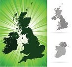 Map,UK,Republic of Ireland,England,Scotland,Cartography,Vector,Northern Ireland,Isle of Man,Green Color,Vector Backgrounds,Travel Backgrounds,Illustrations And Vector Art,Travel Locations
