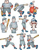 Baseball - Sport,Baseballs,Sport,Vector,Pitcher,Baseball Catcher,Batting,Recreational Pursuit,Activity,Ball,summer fun,Baseball Team,Sports Equipment,Playing,Ilustration,Team Sport