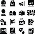 Advertisement,Billboard,Business,Commercial Sign,Marketing,Bag,Packaging,Symbol,Computer Icon,Illustration,The Media,Bullhorn,Flag,Banner,Promotion,Retail,Support,Vector