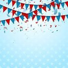 Abstract,Backgrounds,Confetti,Flag,USA,Bright,Vibrant Color,Red,Illustration,Drawing - Art Product,Star Shape,Blue