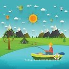 Activity,River,Horizontal,Symbol,Outdoors,Fisherman,Relaxation,Sport,Men,Lake,Nautical Vessel,People,Nature,Vacations,Worm,template,Backgrounds,Sea,Spinning,Equipment,Backdrop,Hobbies,Summer