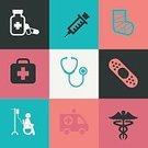 Computer Icon,Ambulance,Single Line,Hospital,Fracture,Set,Collection,Vector,Assistance,Symbol,Medicine,Illustration,Healthcare And Medicine