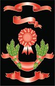 Pennant,Laurel Wreath,Shape,Ribbon,leafy,Vector,Set,Banner,Image,Part Of,Decoration,Scroll Shape,Leaf,Red,Holidays And Celebrations,Satin,Backgrounds,Green Color,Group of Objects,Ilustration,Collection,Ornate,Painted Image,Branch,Vector Ornaments,Illustrations And Vector Art,Design,Color Image