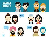 Collection,Infographic,Businessman,Business,Human Face,Men,user,Vector,People,Middle Eastern Ethnicity,Beard,Cute,Women,Turban,Formalwear,African Ethnicity,India,Caucasian Ethnicity,Businesswoman