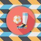 Sport,Playing,Teamwork,Pattern,Sock,Sphere,Single Object,Kicking,Vector,Activity,Circle,Illustration,Soccer