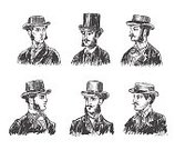 104872,Cut Out,Chivalry,Courage,Whisker,Woodcut,Engraved Image,Beautiful People,British Culture,Illustration,Barber,Hipster - Person,Avatar,1900,Gentleman - Singer,English Culture,Vector,Mustache,Facial Hair,Garment,Headwear,Headdress,Beard
