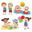 Summer,Activity,Happiness,Enjoyment,Vacations,Fun,Swimming,Relaxation,Water,Playing,Starfish,Eating,Balloon,Playful,Friendship,Ball,Outdoors,Isolated,Sunny,Inflatable,Cute,Child,Beach,Vector,Illustration,Cartoon,Boys,Clip Art,Sand,Isolated On White,Seashell,Ice,Group Of People,Built Structure,Summer Camp,Castle,Nature,Sea