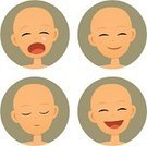 Baby,Facial Expression,Human Face,Child,Cartoon,Crying,Emotion,Sleeping,Sadness,Human Head,Happiness,Cheerful,Vector,Ilustration,Cute,People,Laughing,Smiling,Circle,Making a Face,People,Babies And Children,Mood Swing,Lifestyle,Illustrations And Vector Art,Negative Emotion,Positive Emotion,Clip Art