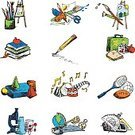 Education,Computer Icon,Doodle,Art,Sport,Mathematics,Scribble,Sketch,Science,Craft,Music,Set,Book,Design Element,Drawing - Art Product,Ilustration,Globe - Man Made Object,Lunch,Rough,Black Color,Ink,Pencil Drawing,Topography,hand drawn,Pen And Ink,Isolated-Background Objects,Illustrations And Vector Art,Isolated Objects,No People
