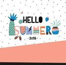 Illustration,Sea,Summer,Hello,Computer Graphic,Cute,freehand,Backgrounds,Vector,Handwriting,Newspaper Headline,typographic,Confetti,Placard,Beach,Decoration,Typescript