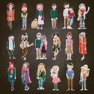 People,Clothing,Elegance,Casual Clothing,Shoe,Friendship,Happiness,Dress,Jeans,Lifestyles,Human Body Part,Human Hair,Cheerful,Caucasian Ethnicity,Looking,Street,Colors,Red,White Color,Beauty,Teenager,Adult,Young Adult,Cute,Skirt,Illustration,Cartoon,Males,Females,Women,Teenage Girls,Vector,Characters,Fashion,Beautiful People,Arts Culture and Entertainment,The Human Body,104872