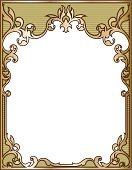 Art Nouveau,Frame,Ornate,Scroll Shape,Victorian Style,Antique,Decoration,Gold Colored,Gold,Old-fashioned,Retro Revival,Swirl,Banner,Striped,Gothic Style,Nature,Design Element,Vector,Elegance,No People,Vector Ornaments,Illustrations And Vector Art,Spiral,Vertical