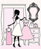 Closet,Women,Dressing Room,Old-fashioned,Dressing Table,Fashion,Clothing,Dress,Silhouette,Cartoon,Teenage Girls,Furniture,Coathanger,Mirror,Vector,Antique,Pink Color,Femininity,Ilustration,Wallpaper,Elegance,Purse,Cute,Female,Beauty,One Person,Style,Glamour,Pattern,Profile View,Characters,Pastel Colored,Wallpaper Pattern,Indoors,Garment,Fashion,Vector Cartoons,Illustrations And Vector Art,Beauty And Health,People