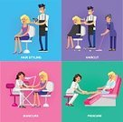 People,Tourist Resort,Table,Lifestyles,Sitting,Hairdresser,Pink Color,Barber,Illustration,Remote,Haircutting Scissors,Manicure,Beauty Treatment,Fashion,Femininity,Relaxation,Arts Culture and Entertainment,60161,mani pedi,Spa Chair
