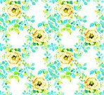 painitng,Horizontal,No People,Nature,Modern,Flower,Leaf,Flower Head,Bud,Rose - Flower,Decoration,Backgrounds,Beauty,Blossom,Illustration,Seamless Pattern,Green Color,White Color,Yellow,Pattern