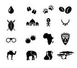 Symbol,Africa,Desert,Tree,Lion - Feline,Jug,Collection,Non-Urban Scene,Illustration,Human Face,Elephant,Ethnic,Cultures,House,Indigenous Culture,Black Color,Set,Shield,South,Necklace,Wilderness Area,Silhouette,Shape,Vector,Warrior,Decoration,Nature,Tropical Rainforest,African Descent,Mask - Disguise,Safari Animals,Jewelry,Hunting,Travel,African Culture,Flat,Bean,Arrow - Bow And Arrow,Animals In The Wild,Wood - Material,Coffee - Drink,People,Village,Vase,The Past,Animal,Community,Sculpture