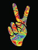 Hippie,Backgrounds,Symbol,Sign,Love,Vector,Illustration,Placard,Cool,Liquid,Psychedelic,Multi Colored,Abstract,Fashion,Computer Graphic,Identity,Rice Paddy