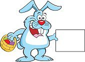Cartoon,Celebration,Clip Art,Container,Rabbit - Animal,Basket,Vector,Mammal,Hare,April,Animal,Easter,Smiling,Holiday,Sign,Wildlife,Fun,Humor,Easter Basket,Easter Bunny,Eggs,Animal Egg,Decoration