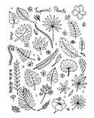 Exoticism,Summer,Botany,Palm Tree,Plan,Tree,Pattern,Art,Painted Image,Design,Season,Drawing - Art Product,Vegetable Garden,Organic,Sketch,Twig,Formal Garden,Silhouette,Decoration,Part Of,Forest,Single Flower,Black Color,Illustration,Set,Tropical Climate,Vector,Leaf,Nature,Backgrounds,Plant,Flower,Isolated,Environmental Conservation,Gardening,Ornamental Garden,Human Hand,Floral Pattern,Computer Graphic,Collection,Pencil Drawing,Design Element,Drawing - Activity