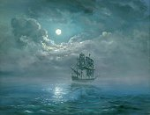 Brigantine,Sailing Ship,Sea,Night,Storm,Nautical Vessel,Old,Paint,Sky,Moon,Sail,Galleon,Wave,Water,Watercolor Painting,Tall,Cloud - Sky,Seascape,Fairy Tale,Abstract,Ilustration,Tropical Climate,Fog,Island,Journey,Obsolete,Book,Idyllic,Art,Freedom,Summer,Weather,Tranquil Scene,Yacht,Image,Realism,Old-fashioned,Caribbean Sea,Travel Destinations,Beaches,Arts And Entertainment,Horizontal,Travel Locations,Cyclone,Horizon Over Water,Visual Art,Climate,Nature,Bodies Of Water,Travel,Nature,Cultures