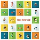 Mother,Child,Text,Bow,Colors,Bird,Tulip,Flower,Day,Ring,Computer Icon,Ideas,Celebration,Simplicity,Greeting Card,Design Element,Candy,Happiness,Design,Rose - Flower,Flat,Multi Colored,Bright,Vibrant Color,Baby,Daughter,Family,Heart Shape,Baby Carriage,Gift,Vector,Concepts,Backgrounds,Body Care,Silhouette,Sign,Symbol,Parent,Love