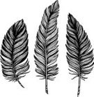 61814,Cut Out,No People,Feather,Illustration,Decoration,Vector,Black Color