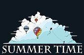 Nature,Illustration,Seagull,Vacations,Dreamlike,Image,Child,Boys,Backgrounds,Summer,aerostat,Air,Flying,Vector