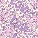 Romance,Flower,Sketch,Day,Single Word,Love,Doodle,Cute,Valentine's Day - Holiday,Illustration,Leaf,Animal Markings,Seamless Pattern,Bird,Decoration,Backgrounds,Emotion,Multi Colored,Pattern,Floral Pattern