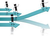 Leadership,Abstract,Art,Isolated,Chart,Stick Figure,In A Row,Off,Power,Silhouette,Arrow Symbol,People,Illustration,Business,Success,Moving Up,Sign,Business Person,Creativity,Speed,Imagination,Concepts,Moving Activity,Reflection,Direction,Skill,Graph,Backgrounds,White,Ideas,Growth,Vector,Group Of People