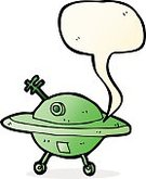 Craft,Alien,Vector,Space,Space Travel Vehicle,Saucer,UFO,Flying,Speech Bubble,Drawing - Activity,Cultures,Illustration,Doodle,Clip Art,Speech,Cheerful,freehand